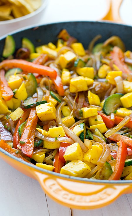 Sweet & Spicy Mango Fajitas