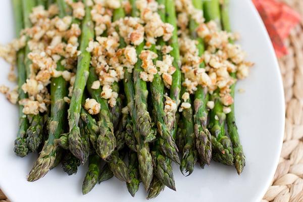 Roasted Asparagus with Lemon-Almond Pesto Recipe