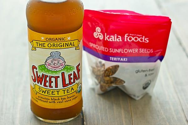 Sweet Leaf Tea & Teriyaki Sunflower Seeds