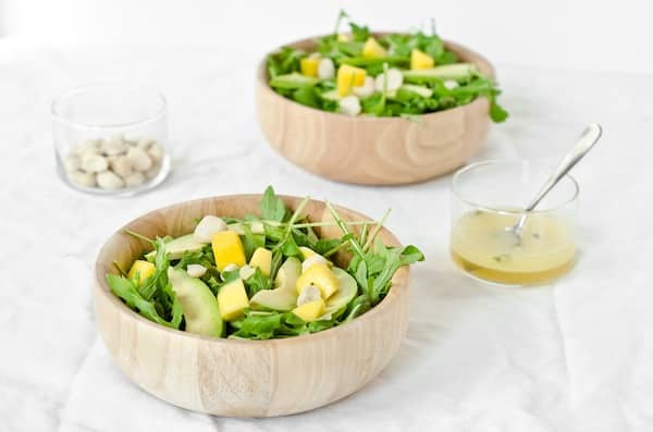 Avocado Mango Salad with Pineapple Mint Dressing