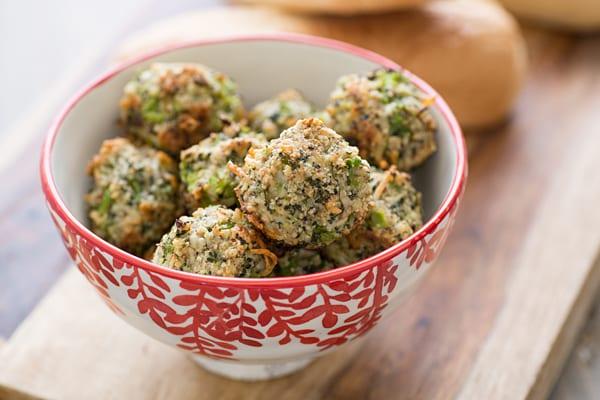 Broccoli Parmesan Meatballs