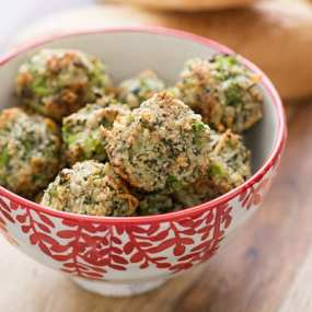 Broccoli Parmesan Meatballs Recipe