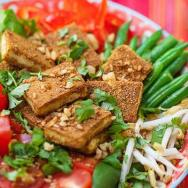 Stir-Fried Tofu and Walnut Crumb Salad