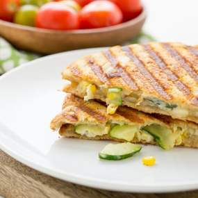 Zucchini & Corn Panini with Pepper Jack Cheese Recipe