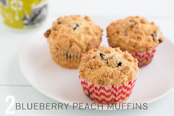 Blueberry Peach Muffins
