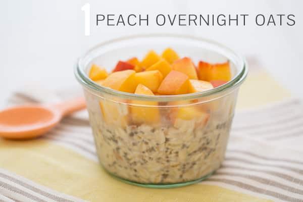 Peach Overnight Oats