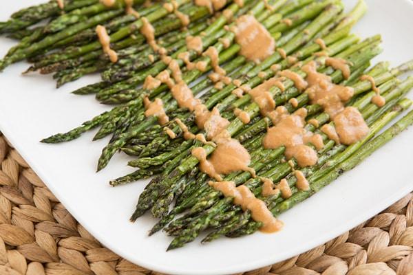 Asparagus with Miso Almond Sauce