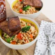 Peanutty Quinoa Bowls with Baked Tofu Recipe