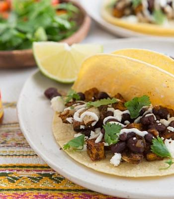 Roasted Sweet Potato & Black Bean Tacos Recipe