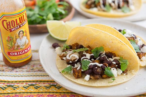 Roasted Sweet Potato & Black Bean Tacos Recipe