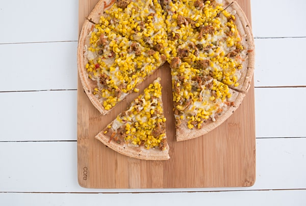 Sweet Corn, Sausage & Thyme Pizza Recipe