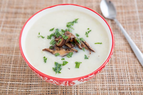 Cauliflower Soup with Shiitakes
