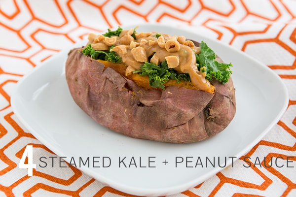 Kale & Peanut Sauce Sweet Potato