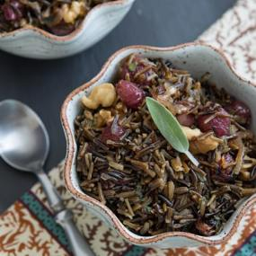 Wild Rice with Roasted Grapes & Walnuts Recipe