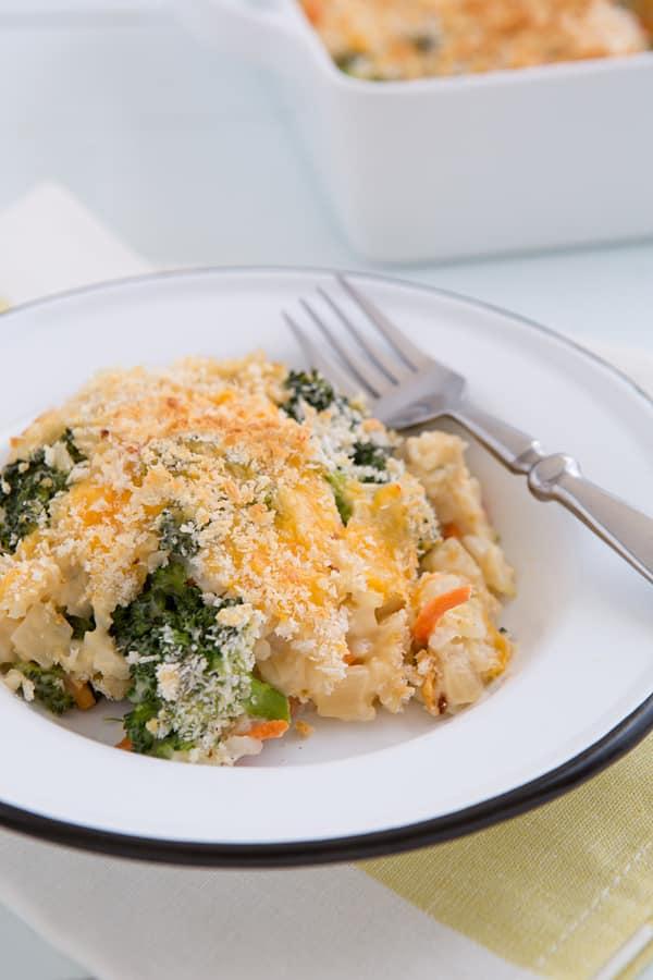 Broccoli Cheddar Brown Rice Casserole