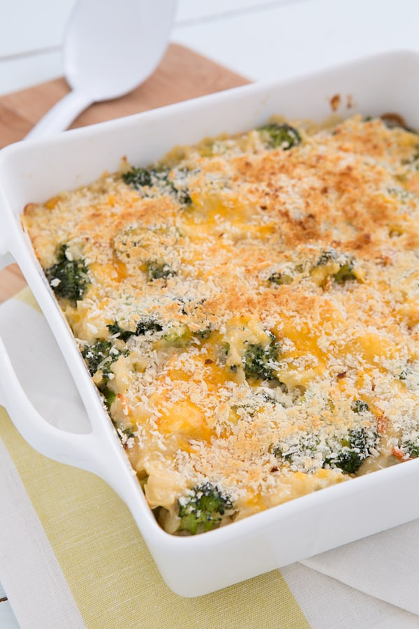Broccoli Cheddar Brown Rice Casserole Recipe From Oh My Veggies-9806