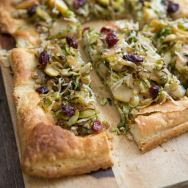 Brussels Sprout and Apple Tart with Walnut Pesto Recipe