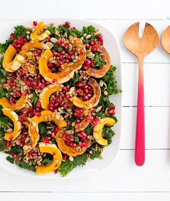Kale and Delicata Salad with Citrus-Maple Vinaigrette Recipe