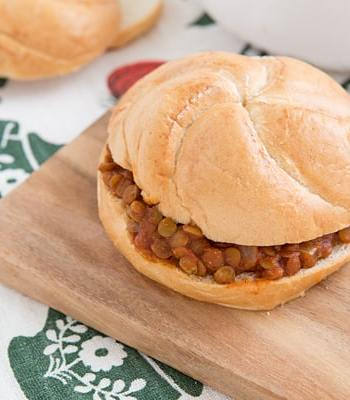 Sloppy Lentil Sandwich Recipe