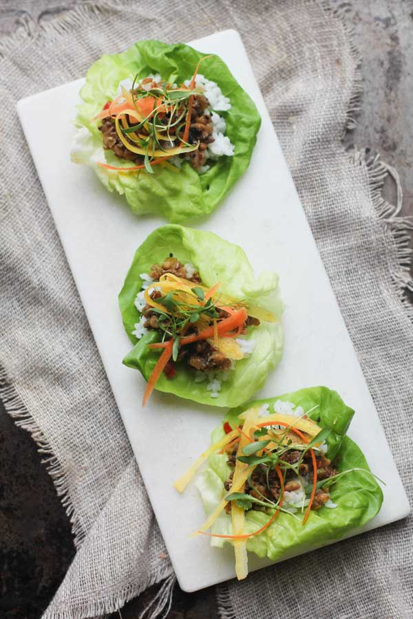 Vegetarian Asian Lettuce Wraps