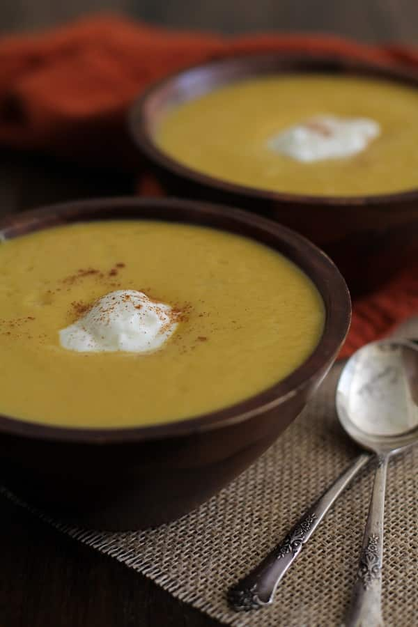 Roasted Acorn Squash Soup
