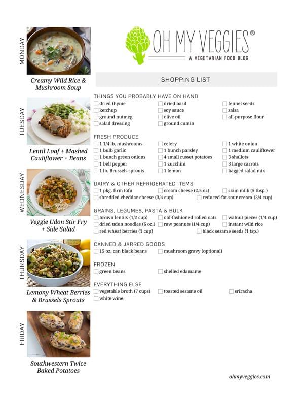 This Week's Meatless Meal Plan