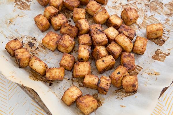 Almond-Miso Baked Tofu