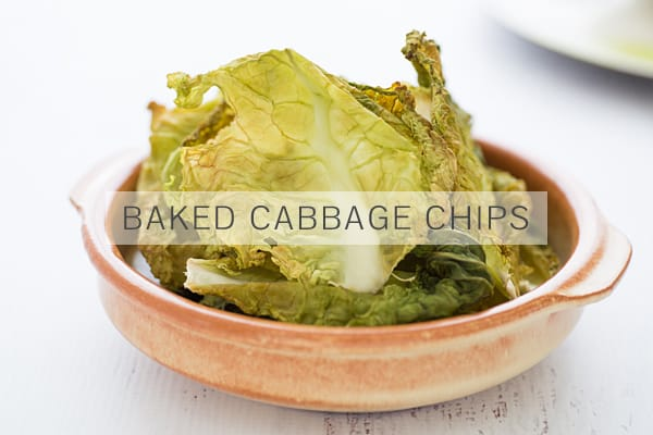 Baked Cabbage Chips