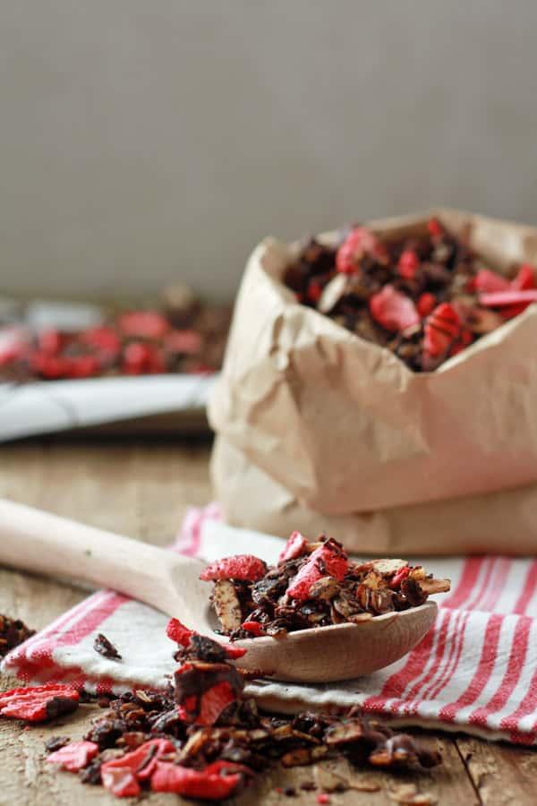 Chocolate-Covered Strawberry Granola