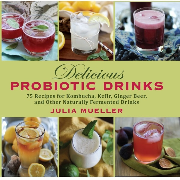 Grapefruit Rosemary Kombucha and Delicious Probitoic Drinks (a cookbook on naturally fermented probiotic beverages)