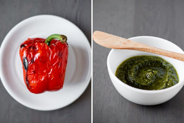 Roasted Red Pepper and Arugula Pesto