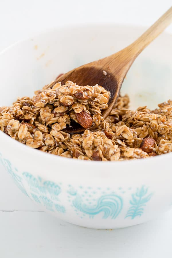 Salted Caramel Granola Bar Mixture