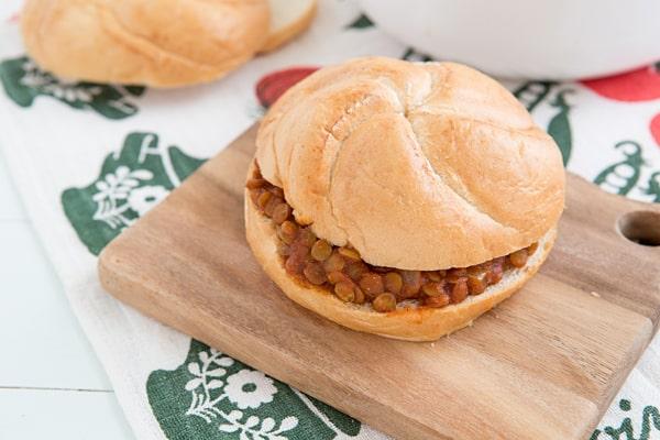 Sloppy Lentil Sandwiches