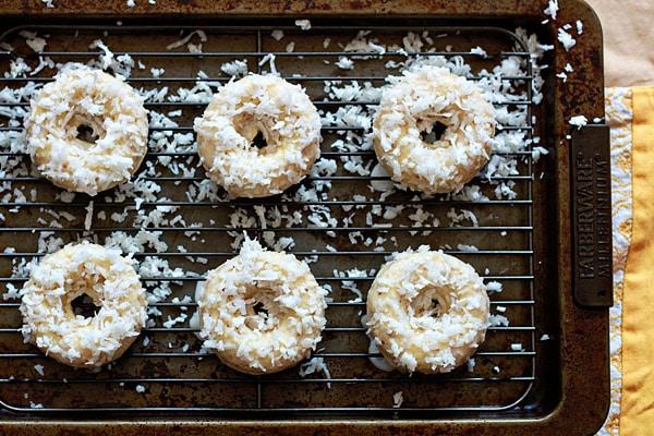 Vegan Lemon Coconut Baked Doughnuts