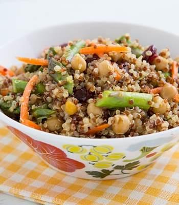 Curried Quinoa & Asparagus Salad