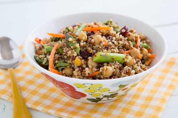 Curried Quinoa & Asparagus Salad