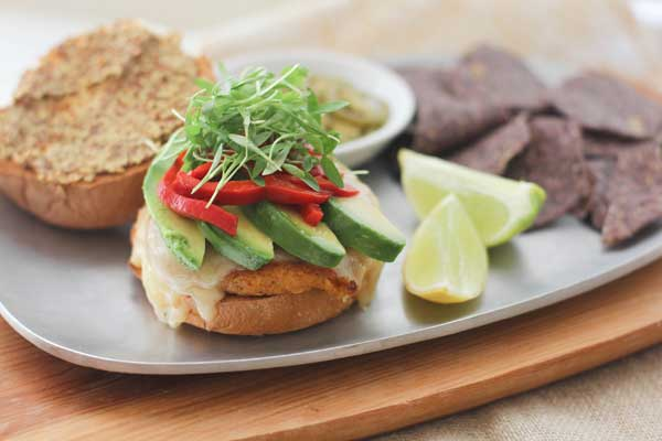 Sweet Potato Burgers from What's Gaby Cooking