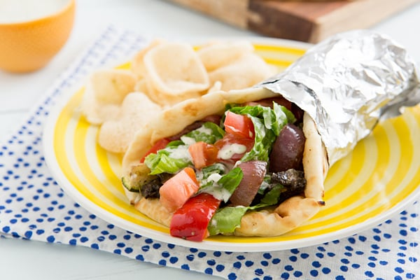 Grilled Veggie Gyros Recipe
