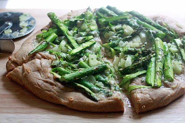Shaved Asparagus & Gorgonzola Pizza