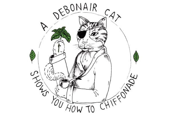 A Debonair Cat Shows You How to Chiffonade