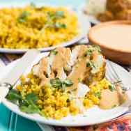 Tandoori Cauliflower with Indian-Spiced Quinoa