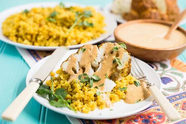 Tandoori Cauliflower with Indian-Spiced Quinoa