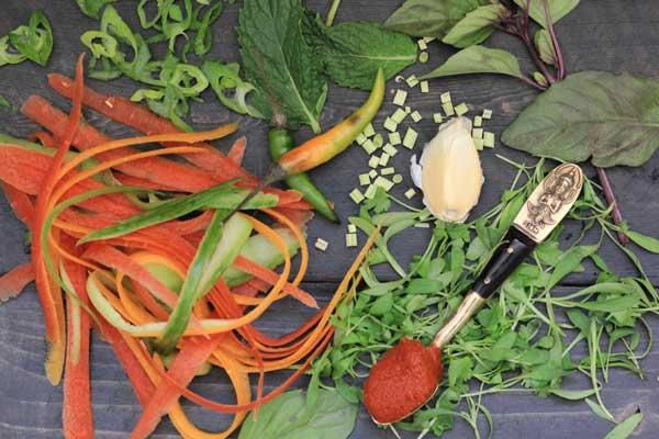 Thai Veggie Burger Ingredients
