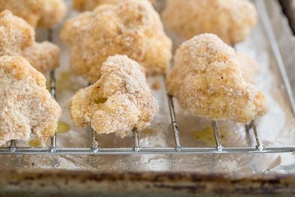 Firecracker Cauliflower Before Baking