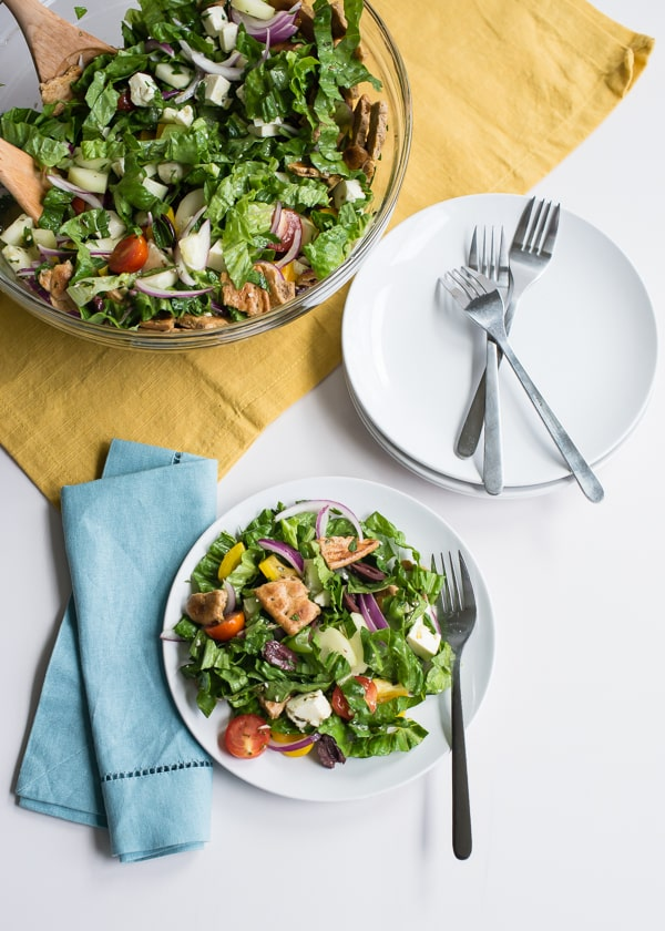 Greek Fattoush Salad