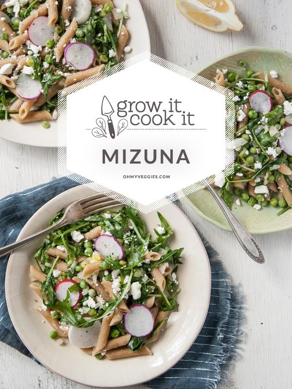 Spring Mizuna & Pea Pasta