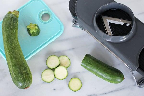 Slice Zucchini with Mandoline