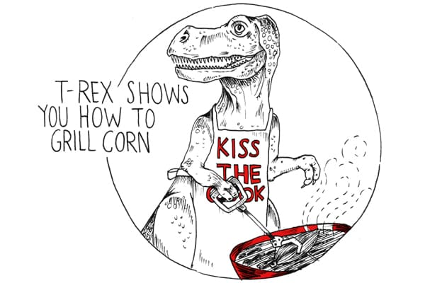 A T-Rex Shows You How to Grill Corn