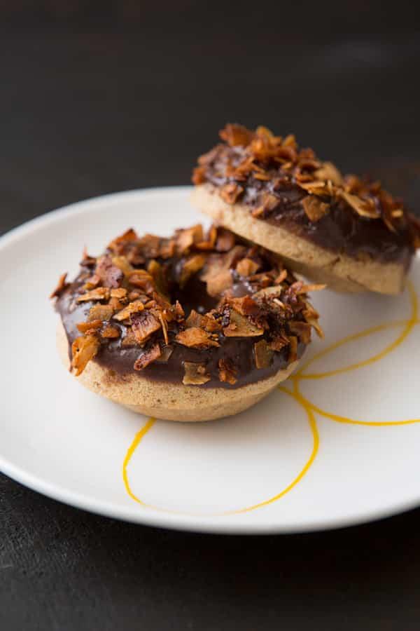 Chocolate Coconut Bacon Doughnuts