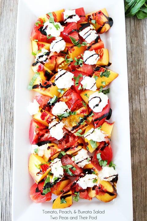 Heirloom Tomato, Peach & Burrata Salad